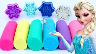 Frozen Elsa Glitter Play Doh Popsicles Ice Cream Modelling Clay Snow Flakes