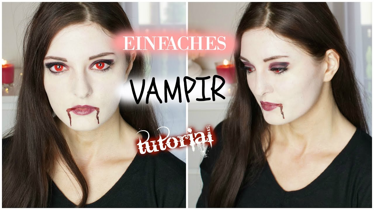 vampir tutorial einfach schnell halloween make up. Black Bedroom Furniture Sets. Home Design Ideas