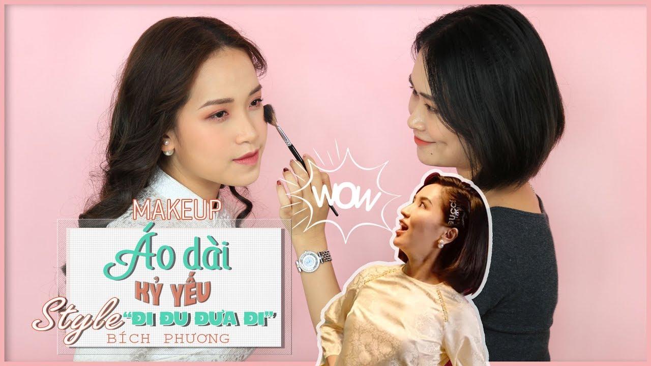 Makeup Áo Dài Kỷ Yếu Siêu Xinh – Giống Bích Phương Trong MV – Đi Đu Đưa Đi