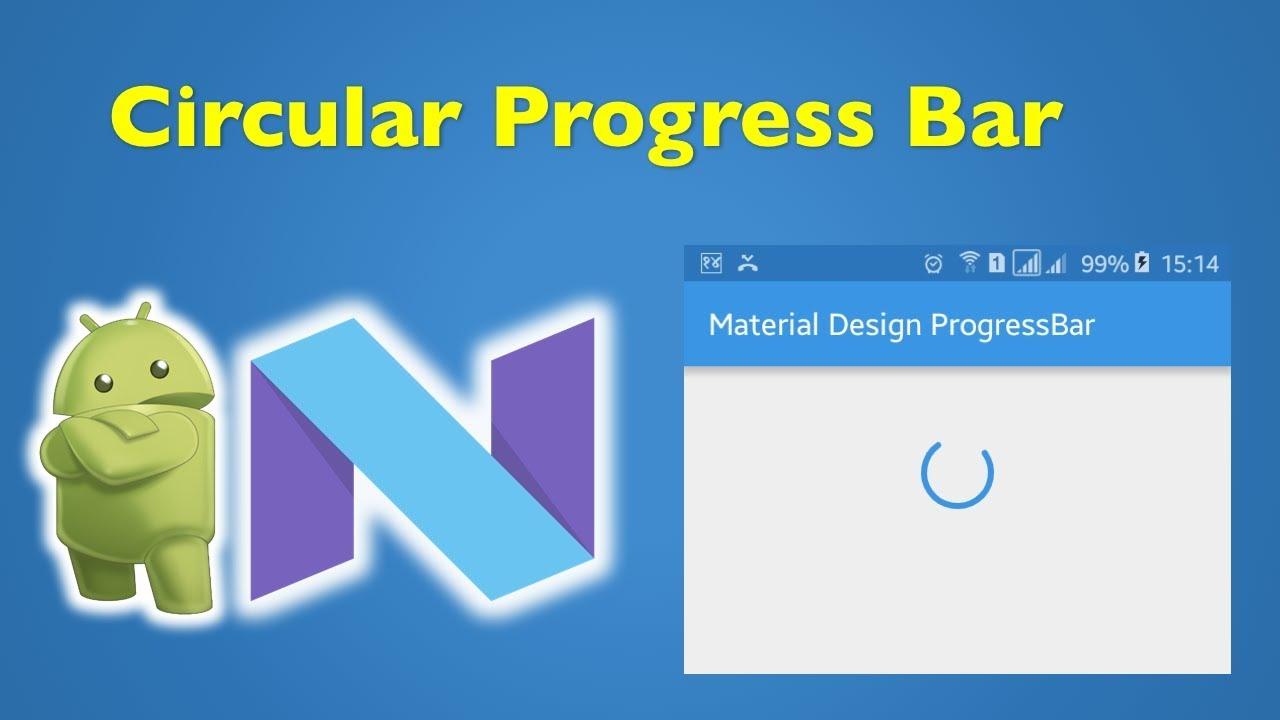 30 Android Material Design- Android Circular Progress Dialog Box