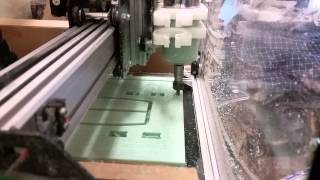 Shapeoko 2 Milling Blue Foam *WARNING LOUD*