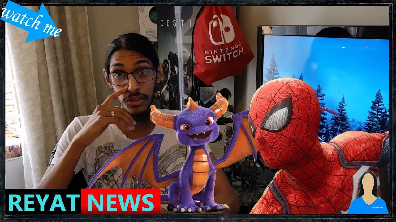 Weekly News Spooderman Spyro Trilogy and PS5 Leaks