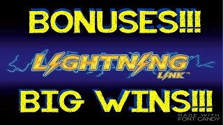 **BIG WINS!!!/BONUSES!!!** Lightning Link Slot Machines