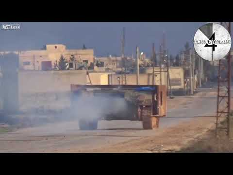 Suicide attack on ZSU 23 4  Shilka  on the position of Syrian troops