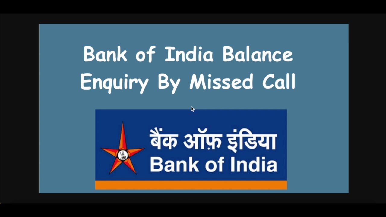bank of india mini statement toll free number