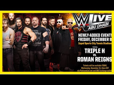 Roman reigns vs. triple h set for abu dhabi, nxt tv tapings in atlanta - wwe news and results, raw