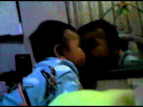 Nathanael kissing the vintage mirror!!! :)