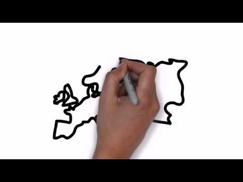How To Draw Map Of Europe  YouTube