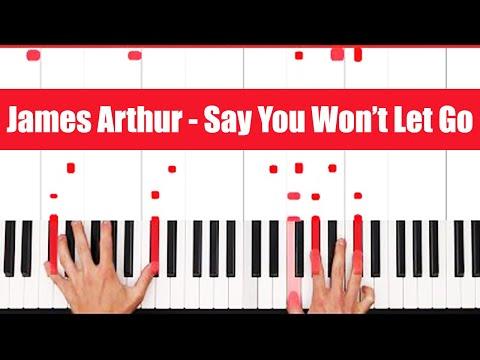 Say You Won't Let Go James Arthur Piano Tutorial Easy Chords