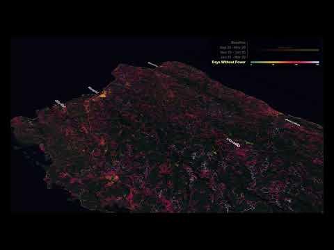 NASA's Black Marble Maps Puerto Rico's Energy Use After Hurricane Maria