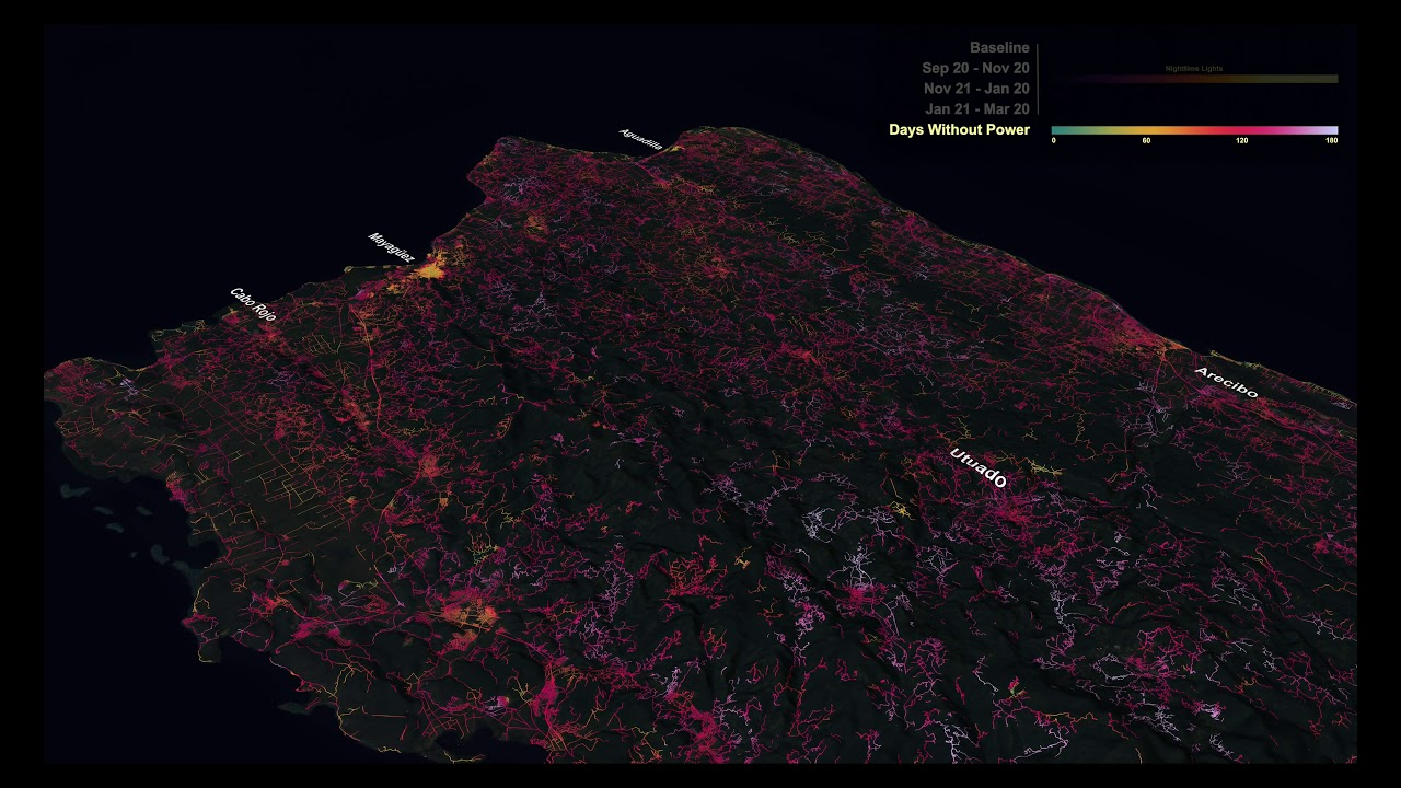 NASA's Black Marble Maps Puerto Rico's Energy Use After Hurricane Maria