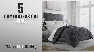 Top 10 ComfortersCal King [2018]: Sleep Restoration Goose Down Alternative Comforter - Reversible