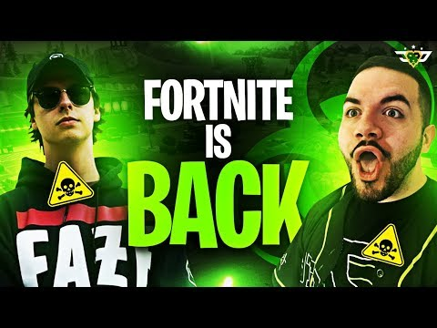 FORTNITE IS BACK! COURAGE AND CIZZORZ ARE TOXIC! (Fortnite: Battle Royale)