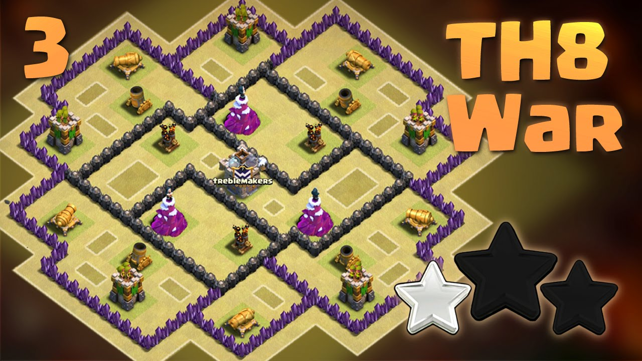 Best Th8 War Base Anti Everything Anti 3 Star 2016 Clash Of Clans Youtube