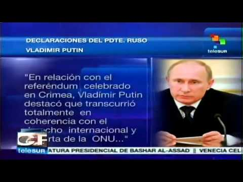 Vladimir Putin responde a Barack Obama: referendo en Crimea es legal