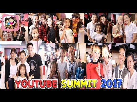 เจอยูทูปเบอร์ คนดัง Youtube Summit 2017 พี่ฟิล์ม น้องฟิวส์ Happy Channel