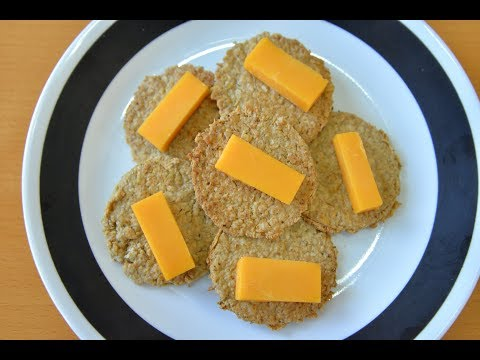 Herb & Garlic Oat Crackers! Scottish oat cake inspired. (Gluten-Free,Vegan,Allergen Free)