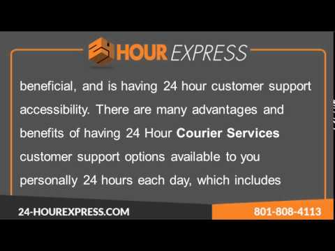 24 Hour Express Courier Services -- On Time Assured