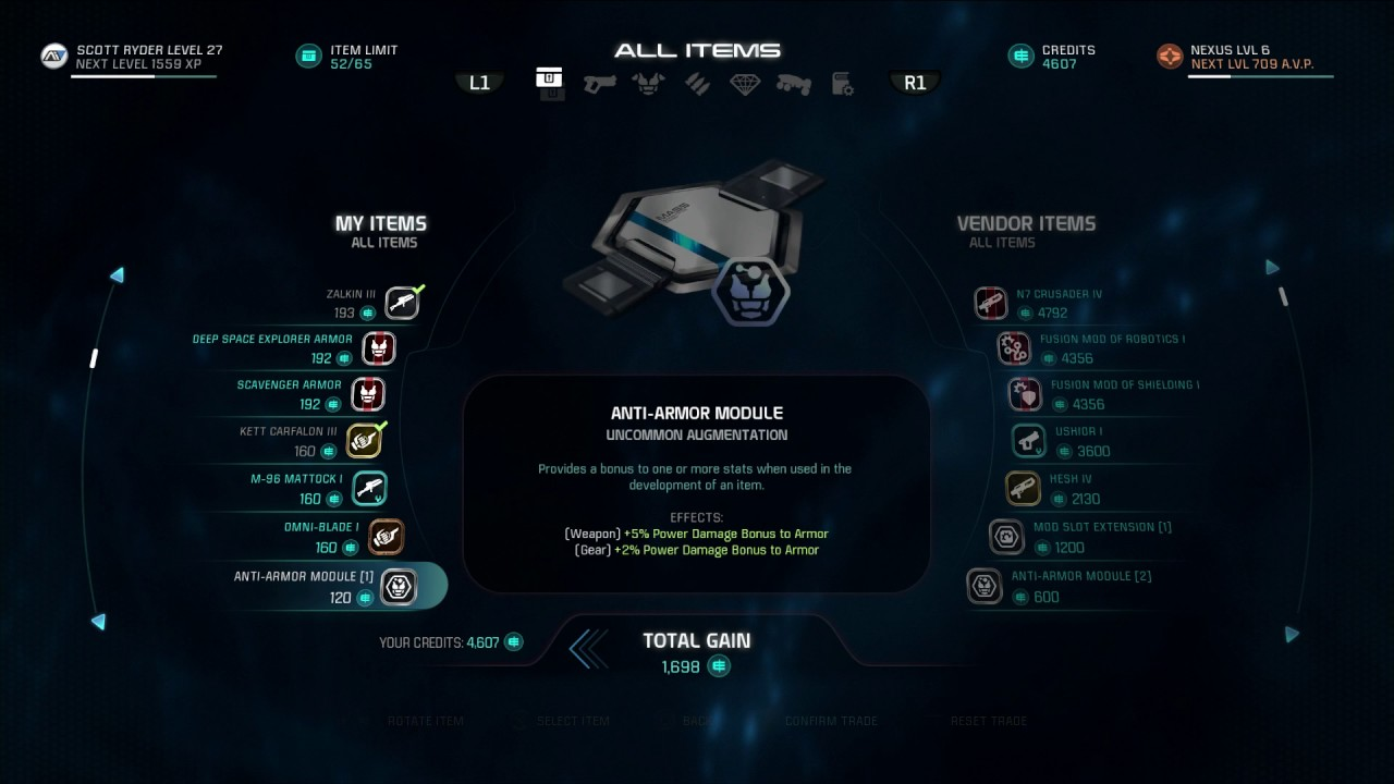 mass effect andromeda how to use augmentations