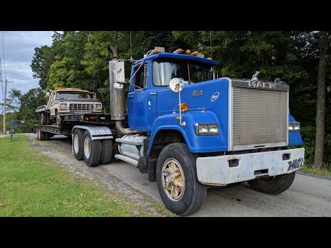 1989 Mack Superliner (E9-450 HP) Hauling A 1977 Ford F-350 Rollback Through The Hills Of Western PA
