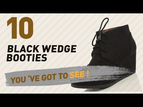 Black Wedge Booties // New & Popular 2017