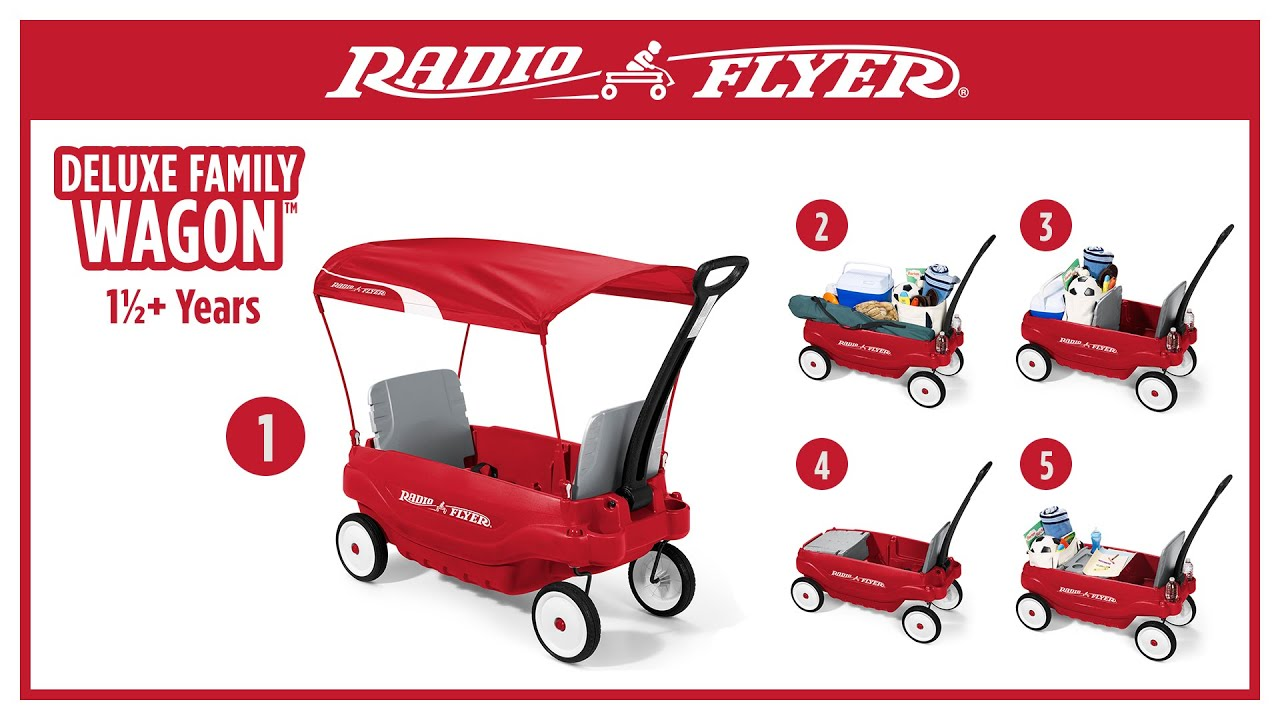 Radio Flyer Deluxe Family Wagon You