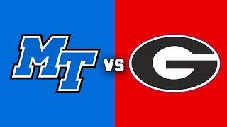 Middle Tennessee State vs. #3 Georgia | 2018 CFB Highlights