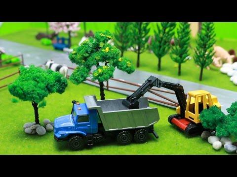 รีวิวของเล่นรถก่อสร้างจิ๋ว รถบรรทุก รถดั้ม รถบดดิน รถแม็คโคร รถโม่ปูน Mini Construction Vehicles