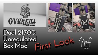 Overkill Mods Custom Design Dual 21700 Series Box Mod | First Look