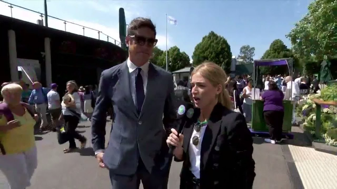 Vernon Kay arrives at Wimbledon 2018