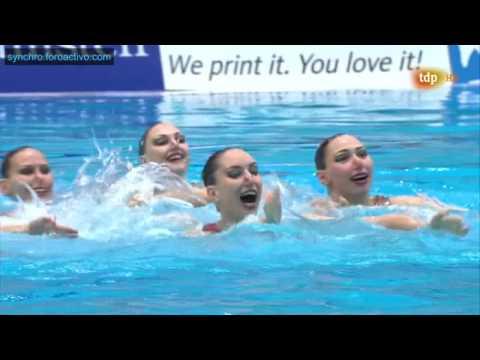 Russian Federation (RUS) Team Free Final Berlin European Aquatics Championships 2014
