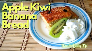 APPLE KIWI BANANA BREAD RECIPE  USING ALL OF OUR FRUIT PULP FROM MAKING JUICE