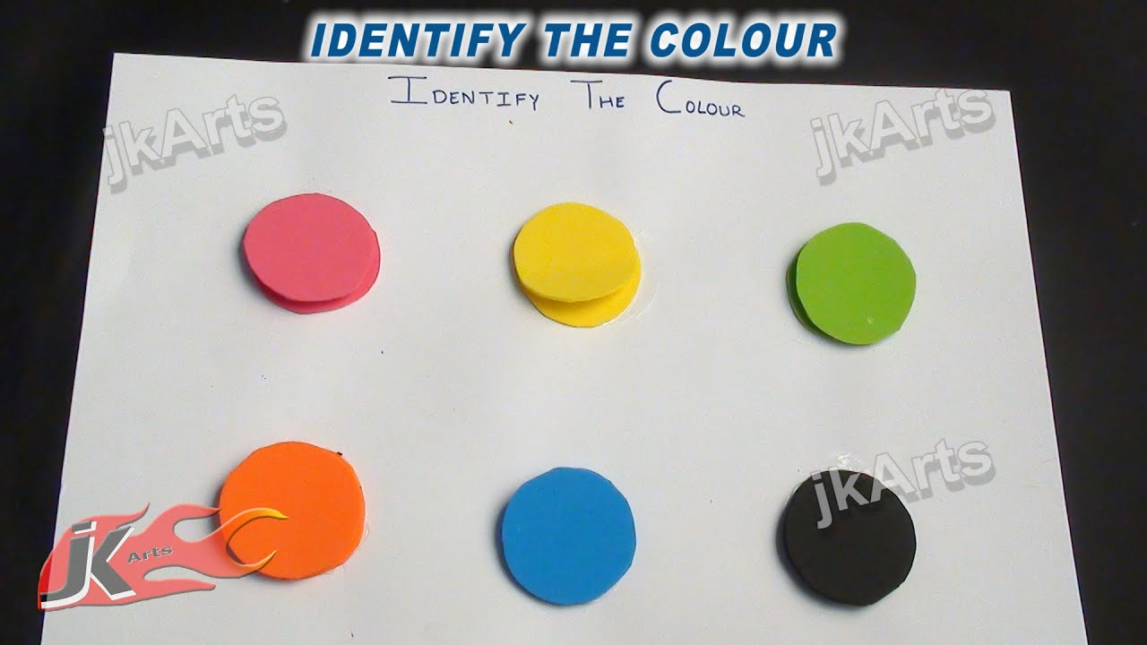 DIY Identify the color Game | Learning Game for Kids | JK ...