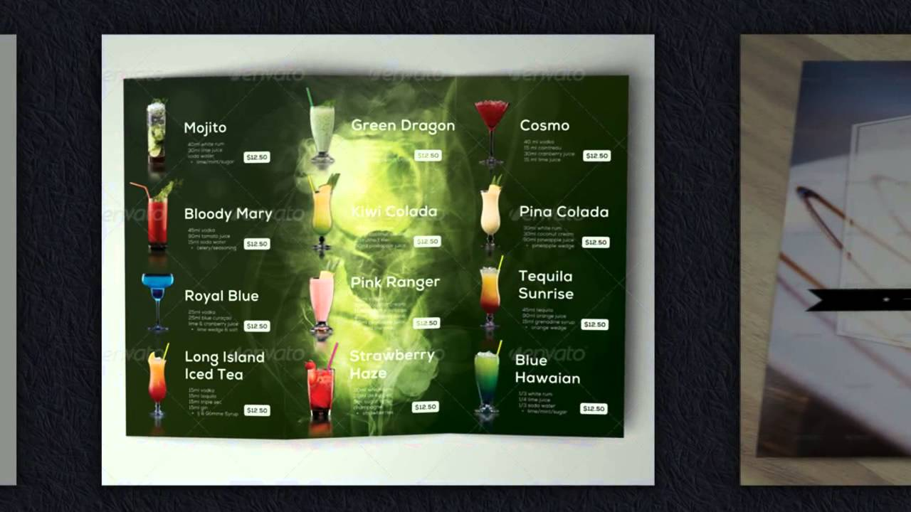 Speisekarten vorlagen restaurant speisekarten erstellen for Digitale weihnachtskarten kostenlos
