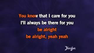 Karaoke, Be Alright Acoustic - Justin Bieber