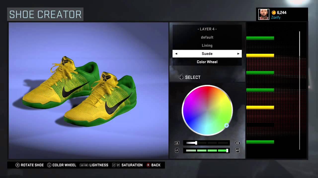 buy popular dae7d 60f14 KOBE 11 Elite PE Nike Kobe 11 NBA 2K16 Shoe Creator - Nike Kobe 11 PE ...