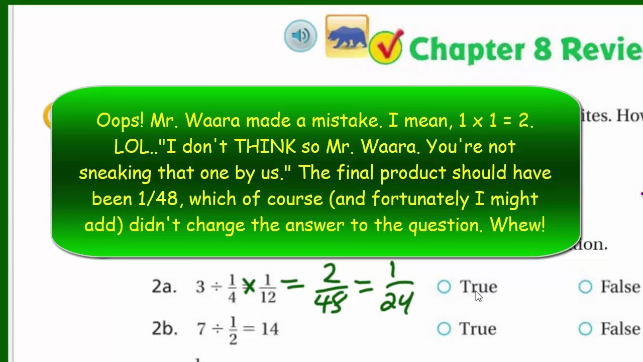 Go Math 5th Grade Chapter 8 Review Part 1 - YouTube
