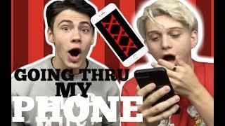 GOING THRU MY PHONE.....