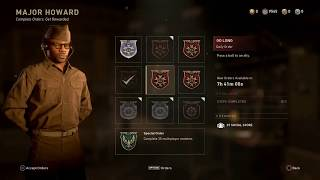 Completing Daily Contracts-Second Week Winter Siege Event : Call of Duty WW2