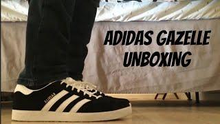 Adidas Gazelle Black/White Unboxing and on feet