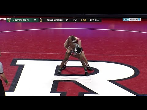 125 LBs: #8 Rayvon Foley (Michigan State) vs. Shane Metzler (Rutgers) | Big Ten Wrestling