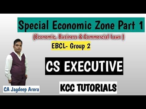 SEZ-Special Economic Zone Part-1( CS Executive )