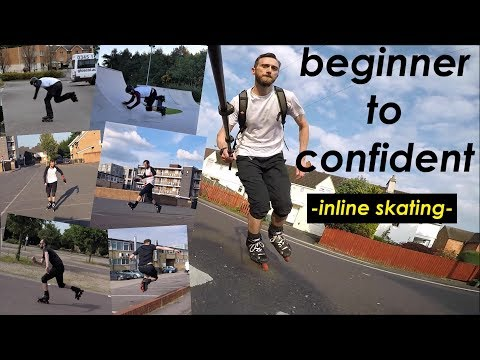 Inline skating - beginner to confident (rollerblading) - 2 year progression - anybody can improve!