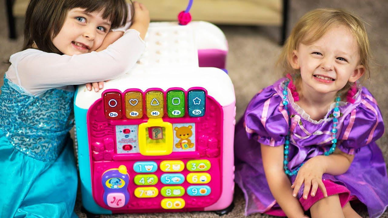 Elsa & Princess Rapunzel Dress Up & VTECH Alphabet Activity Cube