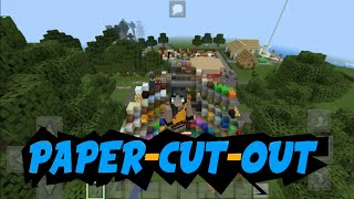 MINECRAFT PE 1.1.3 CON TEXTURA ANTILAG PAPER-CUT-OUT
