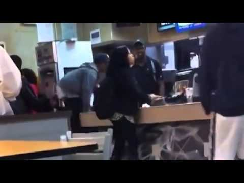 Try assaulting a McDonald's employee, get dealt with