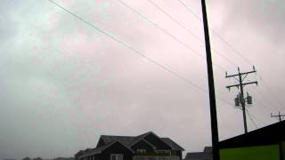 Hurricane Irene Eyewall - 80 mph Howling Winds - Kitty Hawk, NC - August 27, 2011