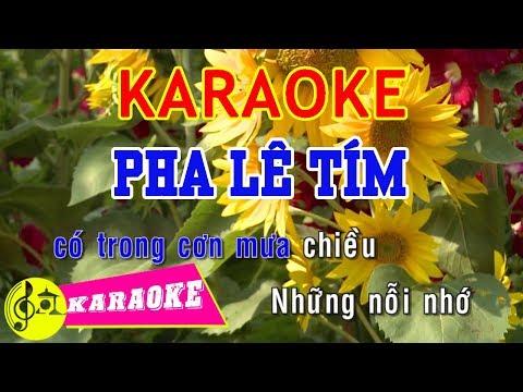 Pha Lê Tím Karaoke    Beat Chuẩn