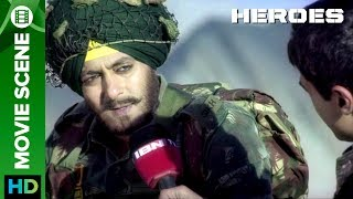 Salman Khan's emotions about Indian Army and Politicians | Movie Scene | Heroes | Salman Khan