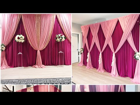DIY- How To Setup A double backdrop  - Testing my new drape kit DIY- wedding Decor